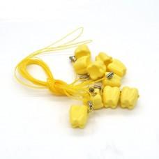 Andent Milk бокс для молочных зубов желтый (17*17*18) (1 зубик)