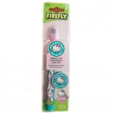 Hello Kitty 3+ Travel Kit2  Детская зубная щетка на присоске с колпачком, мягкая щетина