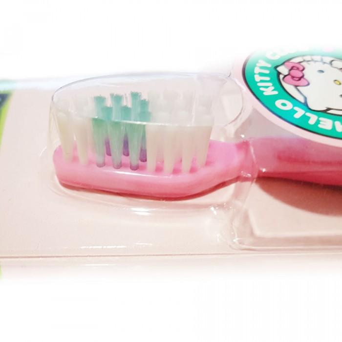 SmileGuard Hello Kitty 3+  Детская зубная щетка на присоске с колпачком, мягкая щетина