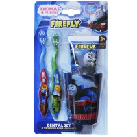 Thomas Friends TF-15 детский набор от 3 лет (2 щетки, зубная паста и стакан)