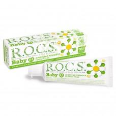 Rocs Baby зубная паста аромат душистой ромашки для детей от 0 до 3 лет (45 гр)
