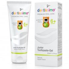 Dentissimo Junior детская зубная паста яблочный вкус 6+ 50 мл