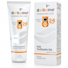 Dentissimo Kids детская зубная паста карамельный вкус 2-6 лет 50 мл
