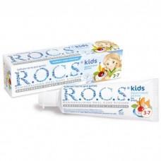 ROCS Kids зубная паста фруктовый рожок для детей от 3 до 7 лет (без фтора) (45 гр)
