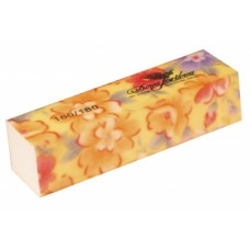 Dona Jerdona 100443 баф шлифовочный желтый с цветочками 180/180
