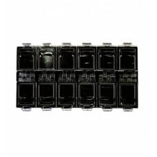 Dona Jerdona контейнер органайзер черный 12 ячеек