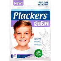 Plackers Kids Зубной станок (флоссер) с запатентованной нитью TUFFLOSS (24 шт в уп)
