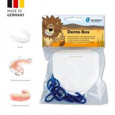 Miradent Dento Box White ударостойкий футляр для хранения ортопедических конструкций белый (69*78*26)
