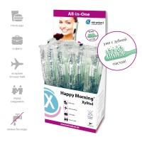 Miradent Happy Morning Xylitol одноразовые зубные щетки с напылением зубной пасты 50 шт
