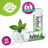 Miradent Xylitol Menthe Verte жевательная резинка сладкая мята 30 шт (30 гр)