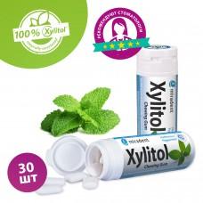 Miradent Xylitol Menthe Forte жевательная резинка перечная мята 30 шт (30 гр)