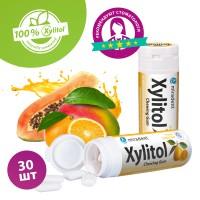 Miradent Xylitol Fruits Frais жевательная резинка свежие фрукты 30 шт (30 гр)