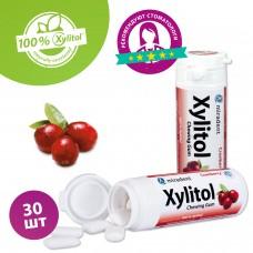 Miradent Xylitol Canneberge жевательная резинка клюква 30 шт (30 гр)