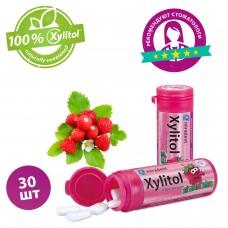 Miradent Xylitol Chewing Gum Kids жевательная резинка земляника 30 шт (30 гр)