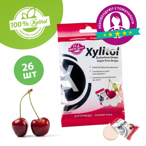 Miradent Xylitol Functional Drops леденцы из ксилита вишня (60 гр)