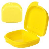 Andent DB04S (85*82*30 мм) контейнер для хранения ортодонтических конструкций лимонный