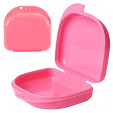Andent DB04 (85*82*30 мм) контейнер для хранения ортодонтических конструкций розовый