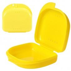 Andent DB02 (80*78*28 мм) контейнер для хранения ортодонтических конструкций с дырочками лимонный