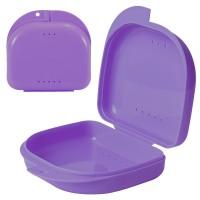 Andent DB02 (80*78*28 мм) контейнер для хранения ортодонтических конструкций с дырочками фиолетовый