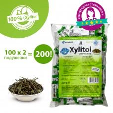 Miradent Xylitol Chewing Gum Green Tea зеленый чай жевательные резинки 100 по 2 шт