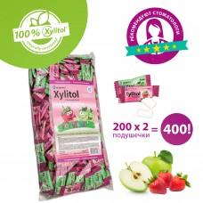 Miradent Xylitol Chewing Gum for Kids детские ассорти жевательные резинки 200 по 2 шт