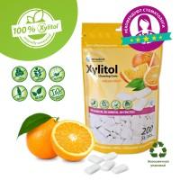 Miradent xylitol жевательные резинки свежие фрукты 200 шт/уп