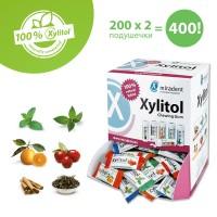 Xylitol Chewing Gum - Жевательная резинка с ксилитом, Диспенсер для жевательной резинки, ассорти 200