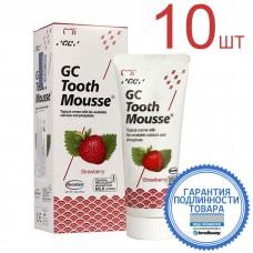GC Тусс Мусс Клубника аппликационный мусс для реминерализации зубов 40 г (10 шт)