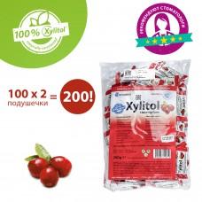Miradent Xylitol Chewing Gum cranberry клюква жевательная резинка 100 по 2 шт.