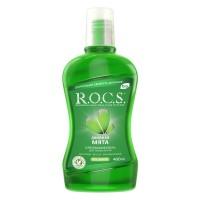 ROCS Двойная мята ополаскиватель без фтора, спирта и красителей (400 мл)