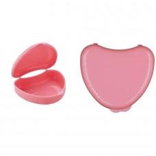 Andent DB01 в форме сердечка контейнер для хранения ортодонитических конструкций розовый (65*72*25)