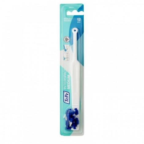 TePe Interspace монопучковая зубная щетка с щетинками средней жесткости с 12 насадками