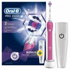 Braun Oral-B PRO 2500 3D White электрическая зубная щетка розовая