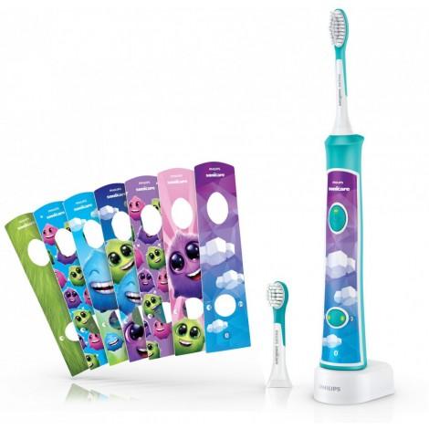 Philips HX6322/04 ForKids Aqua электрическая зубная щетка для детей