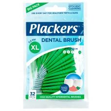 Plackers 0.80 мм XL межзубные ёршики зелёные (32 шт)
