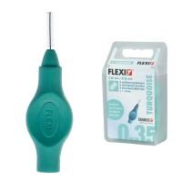Tandex Flexi Turquoise межзубные ершики 0.35 мм проволока, 2.50 мм ершик зеленые 6 шт