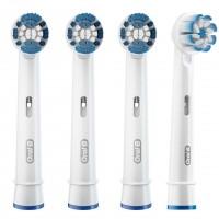 Braun Oral-B EBS17-3 + EB60-1 Sensitive Clean + Sensi Ultra Thin насадки (4 штуки)