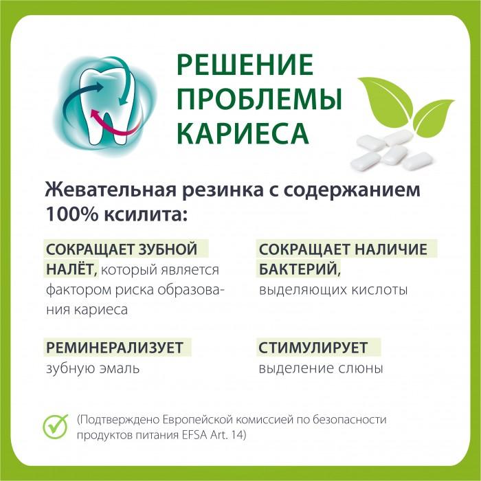 Miradent Xylitol Menthe Forte жевательная резинка со вкусом перечной мяты 30 шт (30 гр)