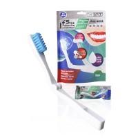 FFT одноразовые зубные щетки складные с напылением зубной пасты кристалл-мята в пакете 12 шт