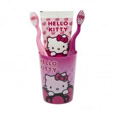 SmileGuard Hello Kitty Набор дентальный 3+ (2 мягкие зубные щетки, зубная паста 75мл, стакан)