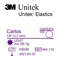 3M Unitek Carlos (Карлос) 1/8 (3,18 мм) 2 Oz (56,7 г) эластики внутриротовые