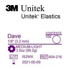3M Unitek Dave (Дав) 1/8 (3,18 мм) 3,5 Oz (99 г) эластики внутриротовые