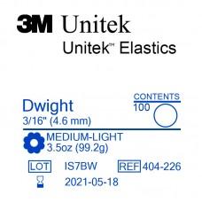 3M Unitek Dwight (Дуайт) 3/16 (4,76 мм) 3,5 Oz (99 г) эластики внутриротовые