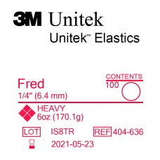 3M Unitek Fred (Фред) 1/4 (6,35 мм) 6 Oz (170,1 г) эластики внутриротовые