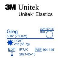 3M Unitek Greg (Грег) 5/16 (7,94 мм) 2 Oz (56,7 г) эластики внутриротовые