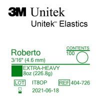 3M Unitek Roberto (Роберто) 3/16 (4,76 мм) 8 Oz (226,8 г) эластики внеротовые