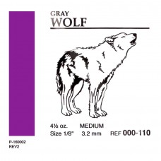 "American Ortodontic Gray Wolf Medium Волк 1/8"" (3.18 мл) 4,5 Oz. эластики внутриротовые"