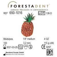 Forestadent Ананас 1/8 (3,18 мм) 4 Oz (113 г) эластики внеротовые