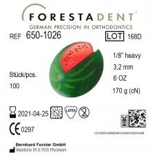 Forestadent Арбуз 1/8 (3,18 мм) 6 Oz (170,1 г) эластики внеротовые