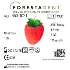 """Forestadent Клубника 3/16"""" (4,76 мм) 6 Oz (170,1 г) эластики внеротовые"""